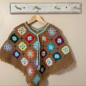 Vintage Crocheted Poncho